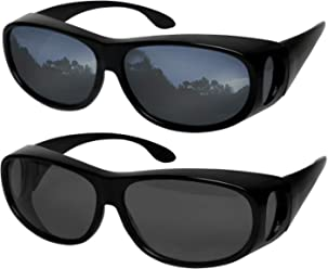 4491ef36140 Fit Over Sunglasses Polarized Lens Wear Over Prescription Eyeglasses 100% UV  Protection for Men and