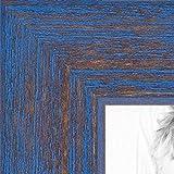 ArtToFrames 24x36 inch PeriwinkleRustic Barnwood Wood Picture Frame, WOM0066-77900-YBLU-24x36