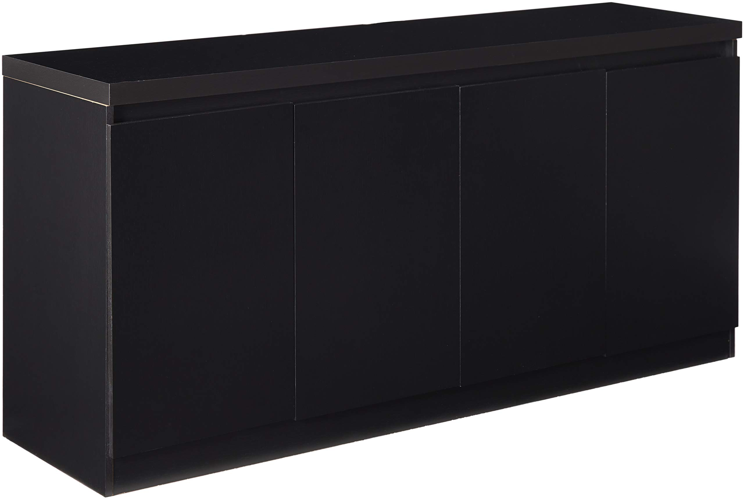 Manhattan Comforts 100653-MC Viennese Sideboard Black Matte