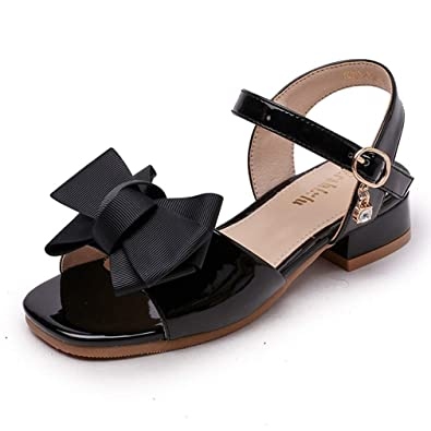 921c2beba8e7 CYBLING Girls Summer Sandals Bowknot Open Toe Little Heel Princess Dress  Shoes (Toddler Little