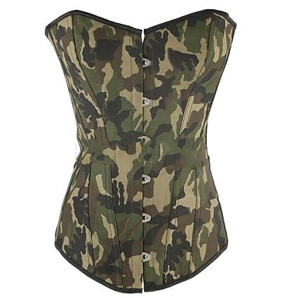 Ropa interior para mujer Cintura talladora Shapewe Camuflaje Verde ...