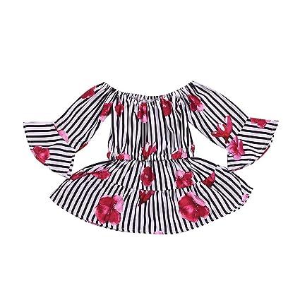 08b3c8a90 Amazon.com: ❤ Mealeaf ❤ Toddler Kid Baby Girl Floral Printed ...