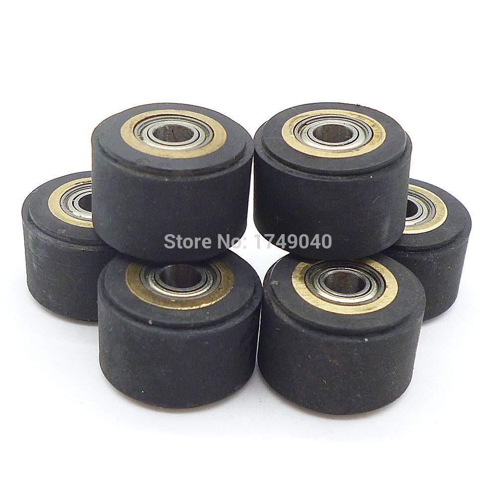 FINCOS 6pcs Copper Core Pinch Rollers 4mm11mm16mm Cutting Plotter Paper Pressing Wheel Printer Parts for Roland Vinyl Plotter Cutter