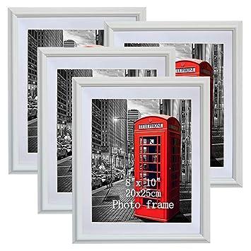 Amazoncom Petaflop 8x10 Picture Frames White 8 X 10 Decorative