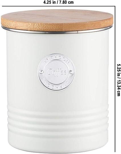 Bote herm/ético para az/úcar con Tapa de bamb/ú 1 litro Color Gris Typhoon Living