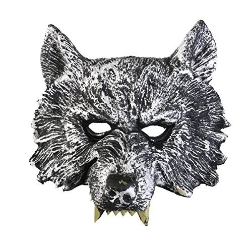 [Tinksky Head Mask for Cosplay Halloween Masquerade (Grey)] (Wolf Halloween Costumes)
