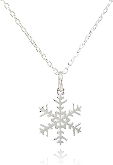flower necklace simple necklace silver necklace snowflake necklace delicate necklace bridesmaid gift dainty necklace gift for her