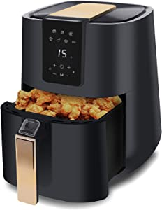 Vinchef 5.2QT Electric Air Fryer Oven, 7 Cooking Presets, 1700 W, Auto Shut Off Fry & Oven Cooker with Digital Touch Screen, Oilless Cooker with Time & Temp Control, Nonstick Frying Basket