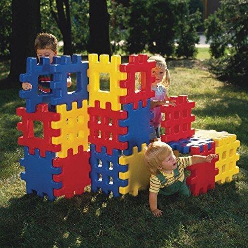 Big Waffle Blocks By Little Tikes (18 Classic Jumbo Waffle Blocks)