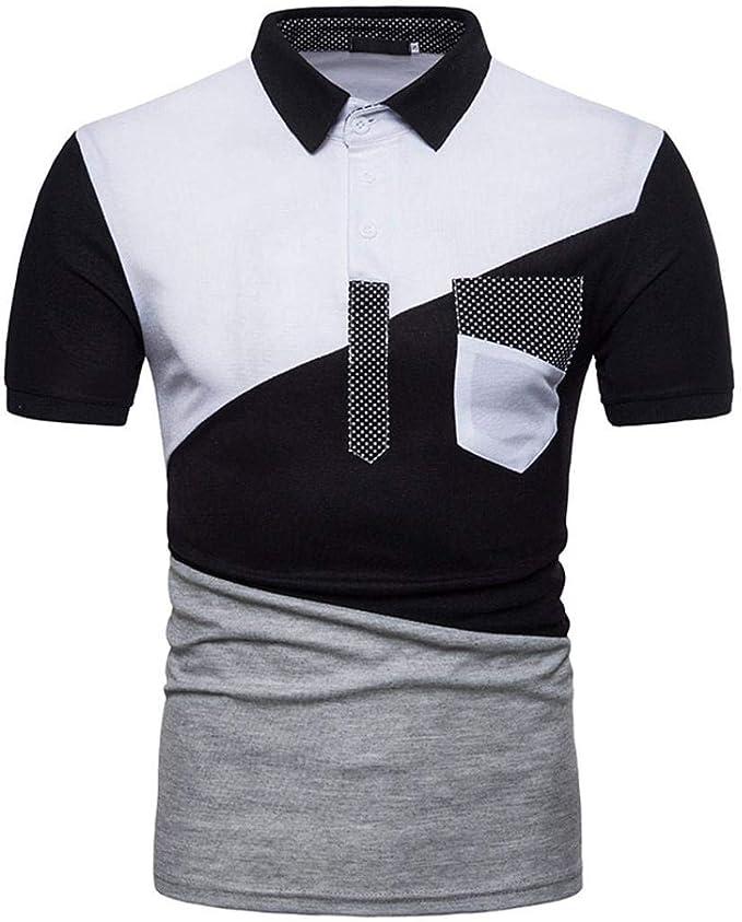 Camisa De Polo De Manga Camiseta Hombre De Corta Modernas Casual ...