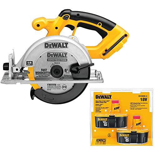 Dewalt DC390-2 18V XRP Cordless 6-1 2 in. Circular Saw with 2 Batteries