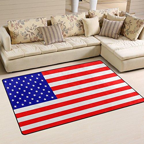 XiangHeFu Area Rugs Doormats American USA Flag 5'x3'3  Non-S