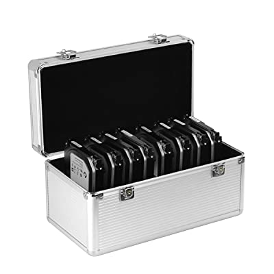 GLOTRENDS B86 Aluminium Protection Case for 8*3.5 and 6*2.5 inch HDD/SDD Argent Fundas Suitcase, Plata, Aluminio
