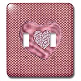 Beverly Turner Heart Design - Pillow Look Heart Shape on Smaller Hearts - Light Switch Covers - double toggle switch (lsp_236899_2)