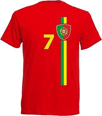 aprom Camiseta para niños de la selección Nacional de fútbol de España y Portugal, número 7: Amazon.es: Ropa y accesorios