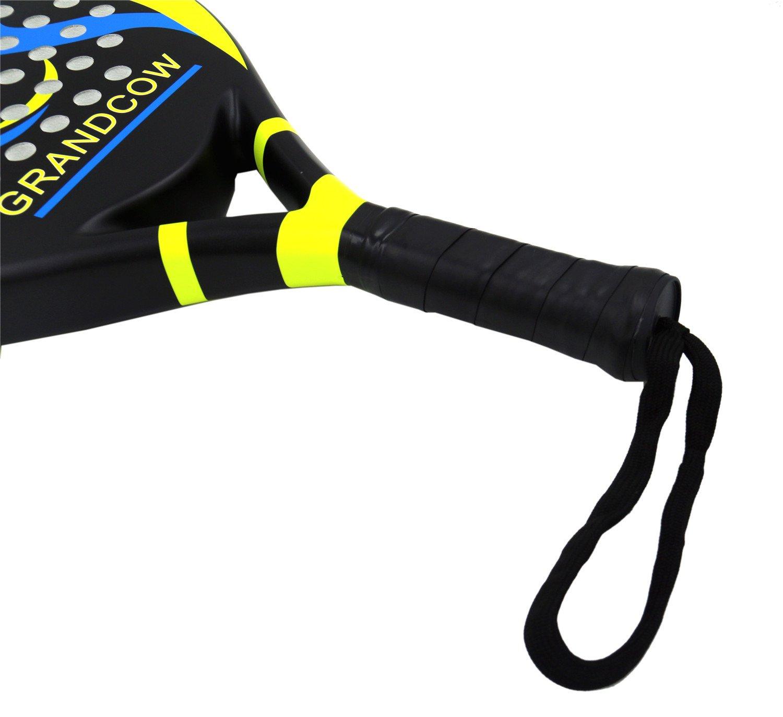 Tenis padel - Pro de fibra de carbono de alimentación Lite Pop EVA espuma playa Paddleball de pádel raqueta raquetas por grandcow: Amazon.es: Deportes y ...