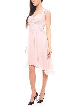 4a5716190b9a78 Ashley Brooke Kleid Cocktailkleid Knielang Damen Rosa Abendkleid by heine,  Größenauswahl:38