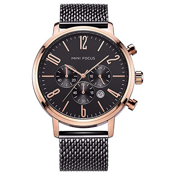 Relojes para hombre Cronógrafo A Prueba de agua Deportes militares Cara grande Dial grande Calendario de