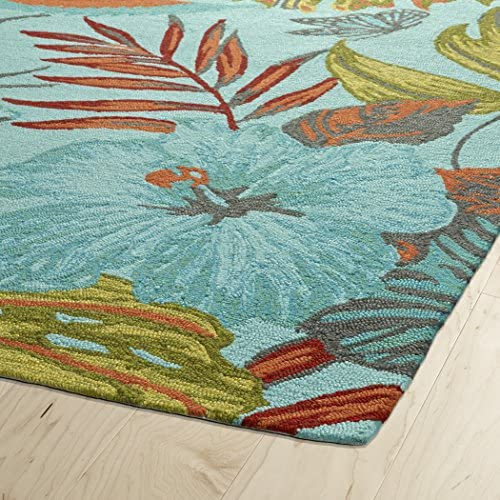 Kaleen Rugs Yunque Collection YUN02-17 Blue 2 x 3 Indoor Outdoor, Handmade Rug