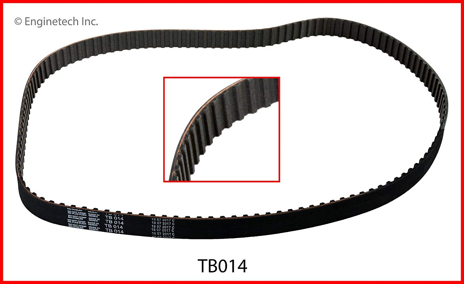 ENGINETECH TB014 TIMING BELT INCLUDES TURBO//CAR /& TRUCK ENGINES SQUARE TOOTH compatible with 1974-1992 FORD MERCURY 140 2.3L 121 2.0L L4