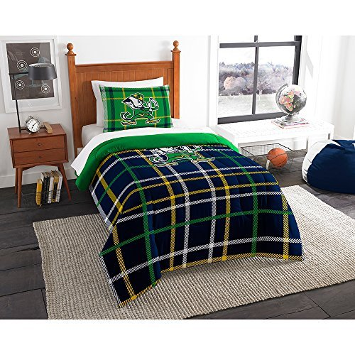 Northwest COL 835 Sham Notre Dame Fighting Irish NCAA Twin Comforter Set (Soft & Cozy) (64