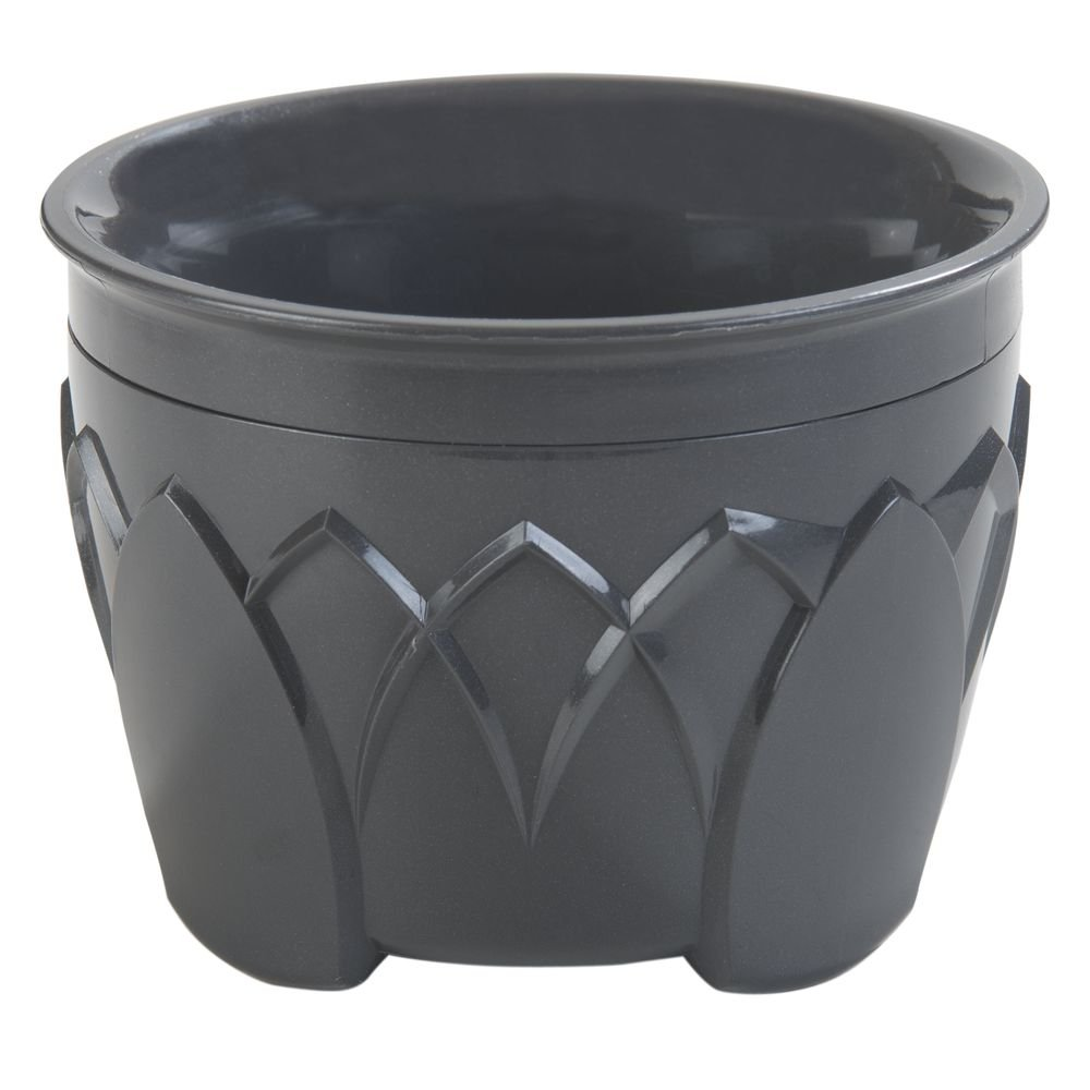 DINEX Fenwick Insulated Ware 5 Oz Graphite Grey Plastic Bowl - 3 1/2''Dia x 2 1/2''H