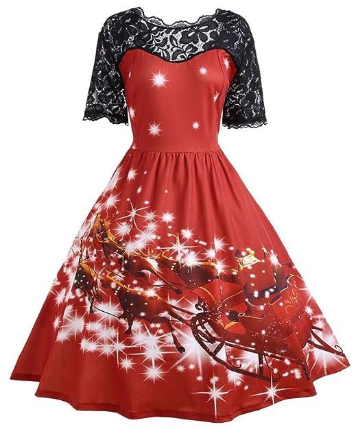 c0c6ef13 Vanbuy Womens 50s Pin Up Halloween Dress Costume Rockabilly Cocktail Party  Dress
