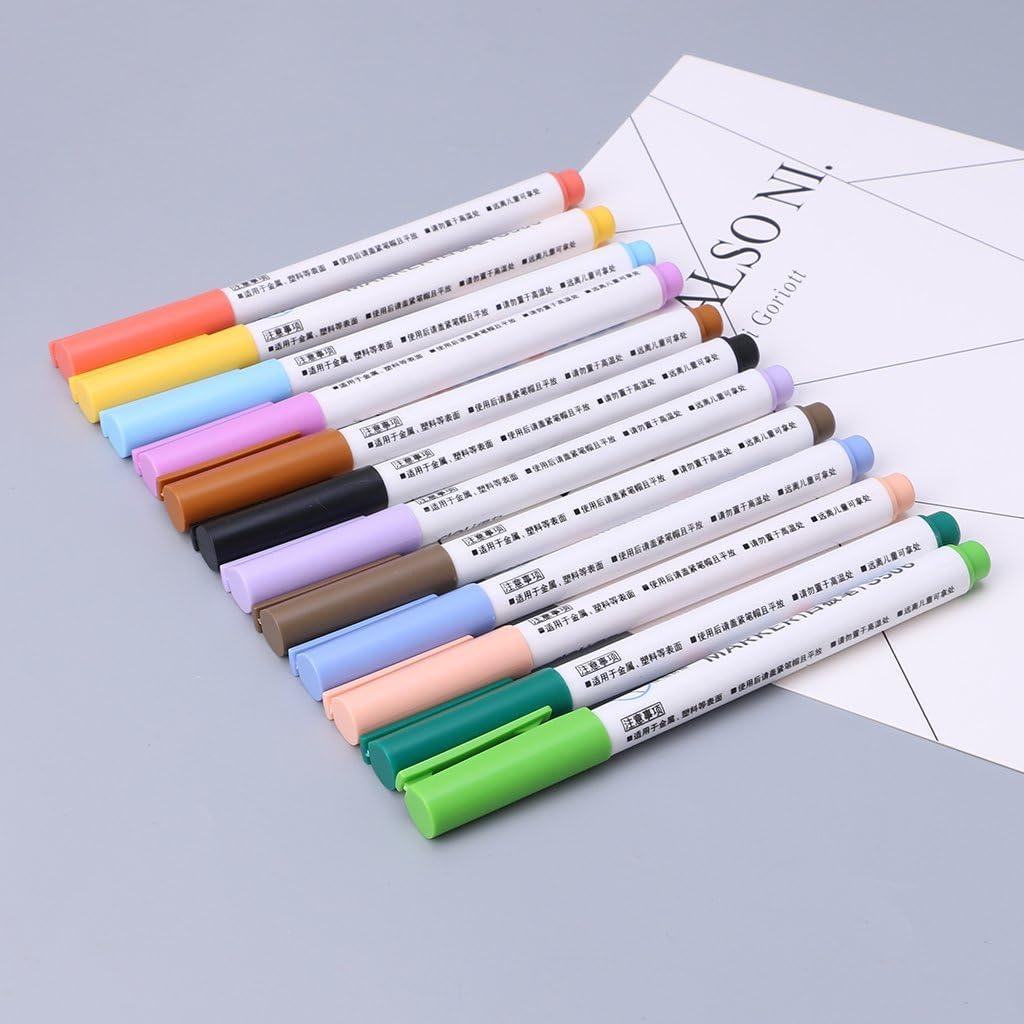 Huiouer Pennarello cancellabile per lavagna bianca 12 colori