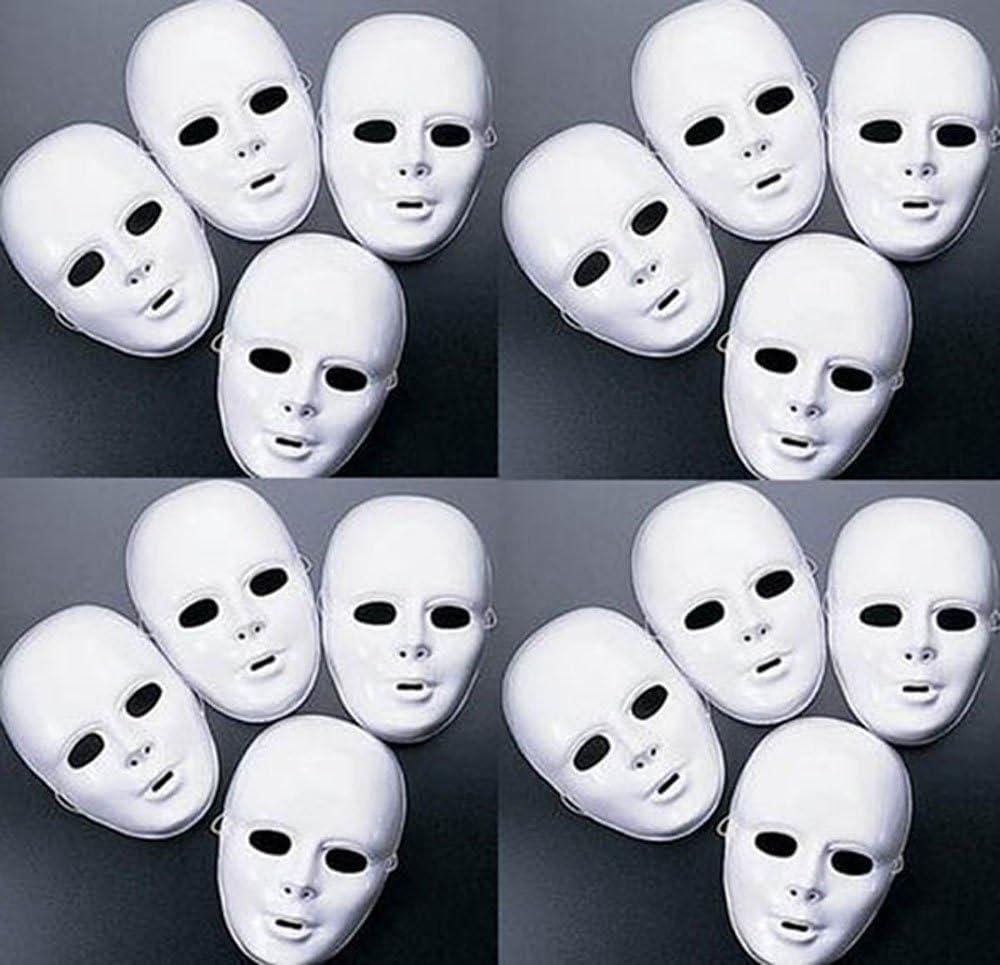Halloween White Blank Half Skull Fear Costume Party Mask