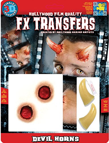 Tinsley Transfers Makeup FX Transfers Devil Horns (4 Piece) - Devil Costume Makeup Ideas