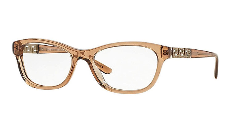 Versace Women's VE3212B - 617 Eyeglasses Transparent Brown 54mm Luxottica