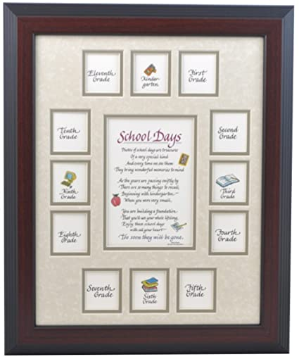 Amazon.com - School Picture Frame - 11X14 Cherry Frame, Taupe Mat ...