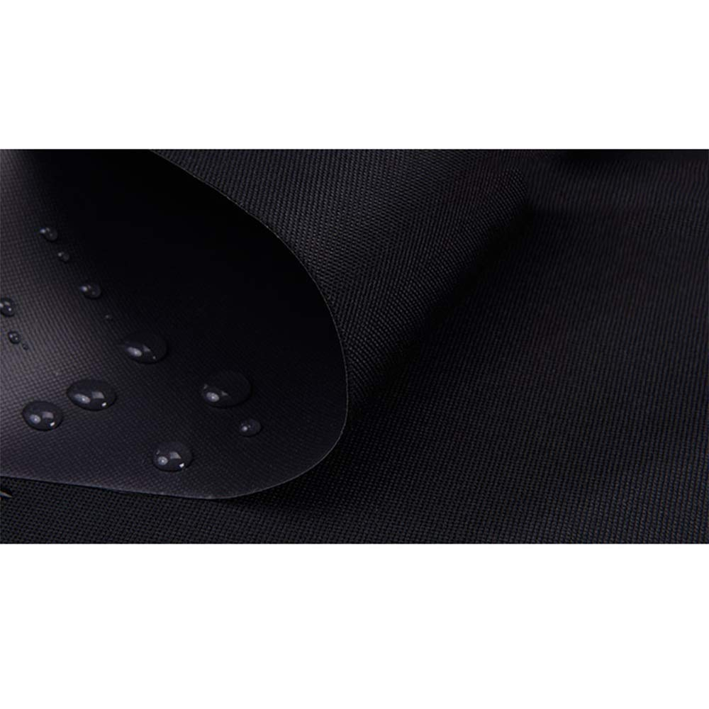 Tarpaulin NAN Schwere Plane hoher Dichte 400 g   m2 schwarz 100% wasserdicht und UV-Schutz (größe   6  10m)