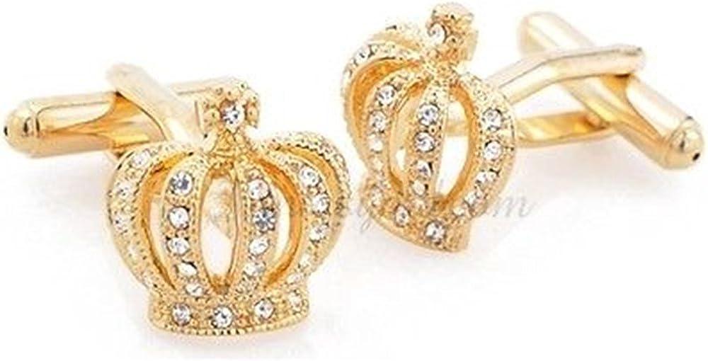 Procuffs Gold Kings Crown Royalty Wedding Tuxedo Cufflinks