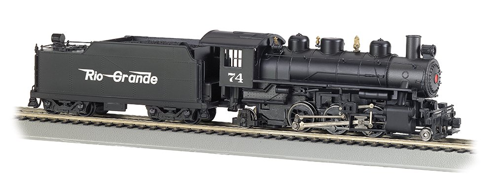 HO Ma/ßstab Dampflokomotive /mit Rauch /& Tender Rio Grande # 74/ Flying Grande Bachmann Industries Z/üge Prairie-2/