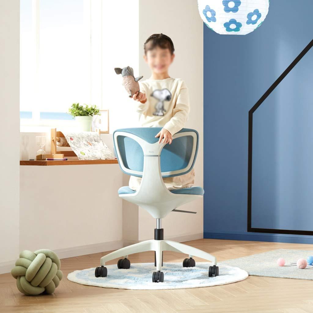 YYL kontorsstol mesh kontor uppgift stol, ergonomisk bekväm justerbar dator skrivbordsstol, blå/grön svängbar stol (färg: blå) BLÅ