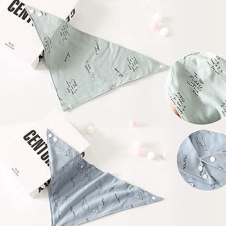 B/éb/é Bandana Bavettes Ensemble de 5 Bavoirs Super Absorbant 100/% Coton Bio et Bouton R/églable Bavoir B/éb/é Triangle ZoneYan Bavoirs Absorbants Bandana Bavoir B/éb/é Bandana