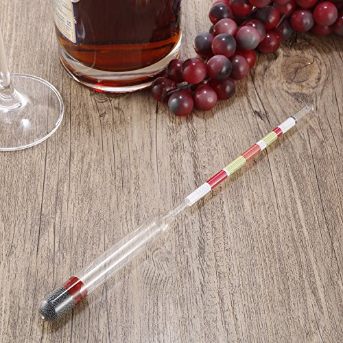 3 Scale Home brew Hydrometer Wine Beer Cider Alcohol Testing Making Tester,transparent ()