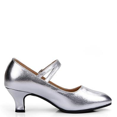 Wxmddn Weibliche Latin Dance Schuhe nach schwarz Schuhe 5,5cm weichen Sohlen Tanz Schuhe aus Leder, E34