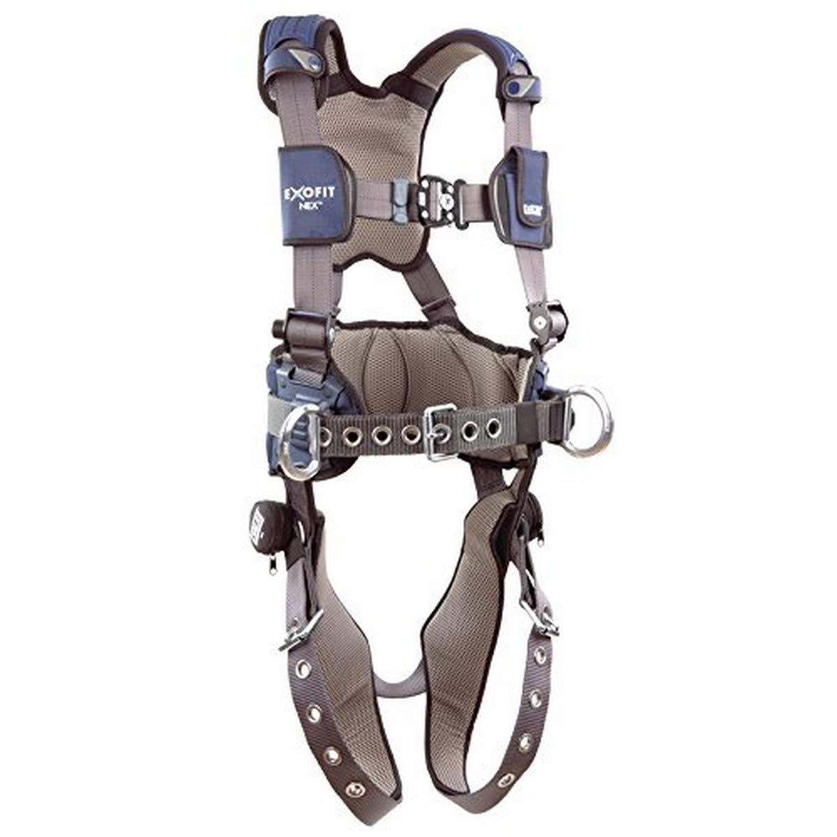 3M DBI-SALA 1113139 ExoFit NEX Construction Harness with Back D-Ring Tongue Buckle Body Belt /& Hip Pad with Side D-Rings Tongue Buckle Leg Straps Medium