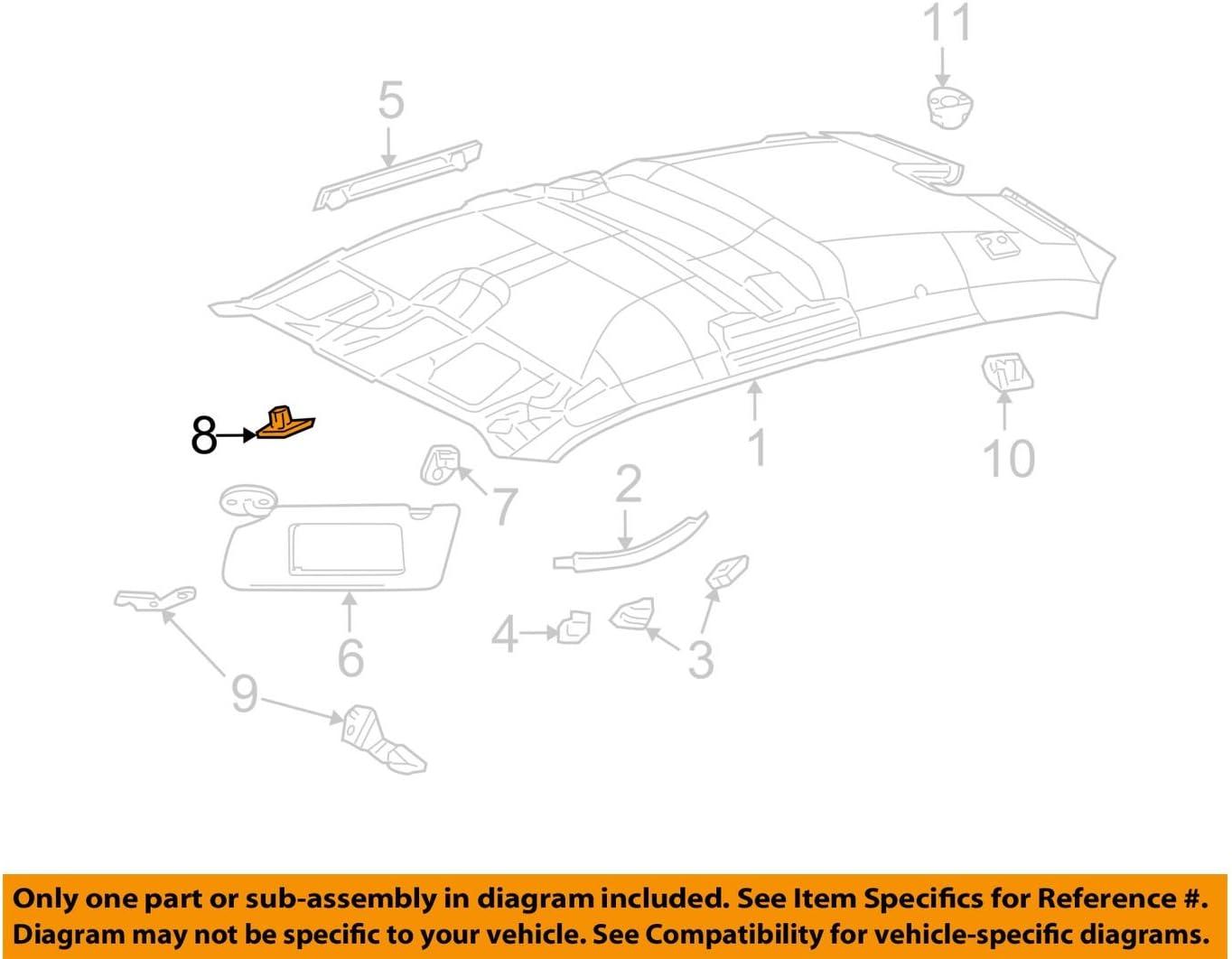 Chrysler Genuine PX40TL2AB Visor Clip