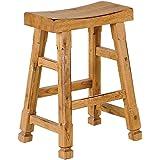 Sunny Designs 1720RO Saddle Seat Barstool, Rustic Oak Finish