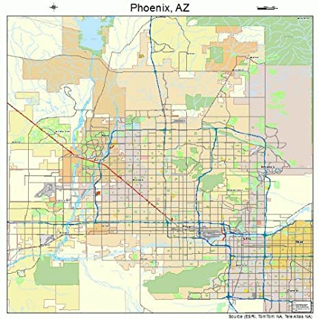 Amazon.com: Street & Road Map of Phoenix, Arizona AZ - Printed ...