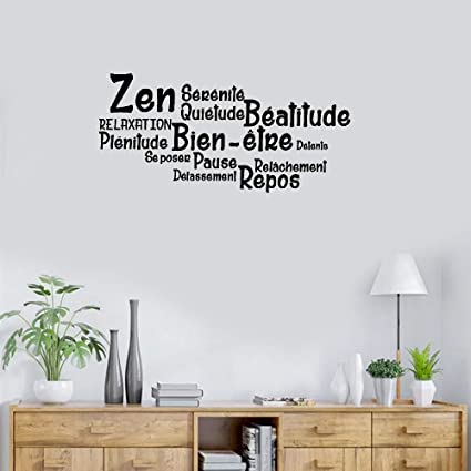 Wall stickers decals Art Words Sayings Removable Lettering French Quote  Salle De Bain Zen, Bien-Être, Repos For Bathroom Washroom