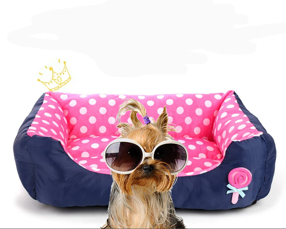 Limiz Nido de Mascotas, Gruesa Algodón Suave Lint Lollipops Nido de Mascotas Otoño Invierno Warm Square Waterloo Cama de Perro Cat Mat Mat 4 Color y 3 ...