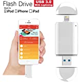 [Apple MFI Certified] 64GB USB 3.0 Flash Drive with Lightning, Costech Connector External Storage Memory Expansion for iPhone /iPad /iPod /PC