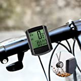 Bike Computer ThorFire W408 Wireless Bicycle Speedometer Waterproof Bike Odometer with LCD Display Cycle Computer, Auto & Multi-Function