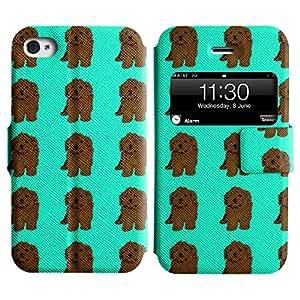 LEOCASE lindo perro Funda Carcasa Cuero Tapa Case Para Apple iPhone 4 / 4S No.1006796
