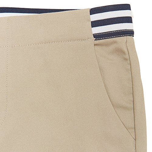 French Toast Girls' Big Stretch Contrast Elastic Waist Pull-on Pant, Khaki, 7 by French Toast (Image #3)
