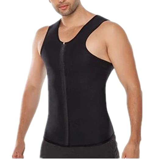 6d7afd3db2 YeeHoo Men Sauna Sweat Vest Weight Loss Waist Trainer Neoprene Tank Top  Shapewear Slimming Shirt Workout